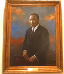 Dr. Martin Luther King Jr.'s Portrait. Georgia State Capitol Building. Painted by George Manus