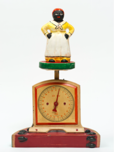 Betye Saar, Someones in the Kitchen with Dinah, 2014. Mixed media assemblage, 16 1:2 x 6 x 10 ½ in. Courtesy the artist and Roberts & Tilton, Culver City, California. © Betye Saar