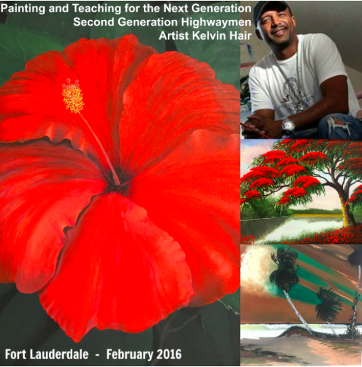 Searching for the Next Generation of Highwaymen Painters: Second Generation Artist helps kick off Black History Month at Fort Lauderdale History Museum and local schools