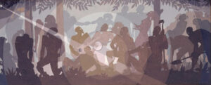 Study for Aspects of Negro Life: An Idyll of the Deep South  by Aaron Douglas