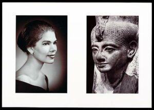Artist: Lorraine O Grady,   Misegenated Family Album (Sisters IV), L: Devonia's sister, Lorraine; R: Nefertiti's sister, Muntnedjmet (1980/1994)  cibachrome prints,  Alexander Grey Gallery