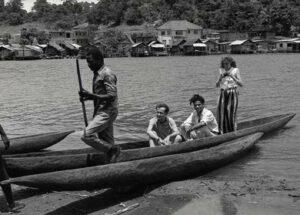Jean Michel Basquiat with friends, Abidjan, Cote D'Ivoire, 1986