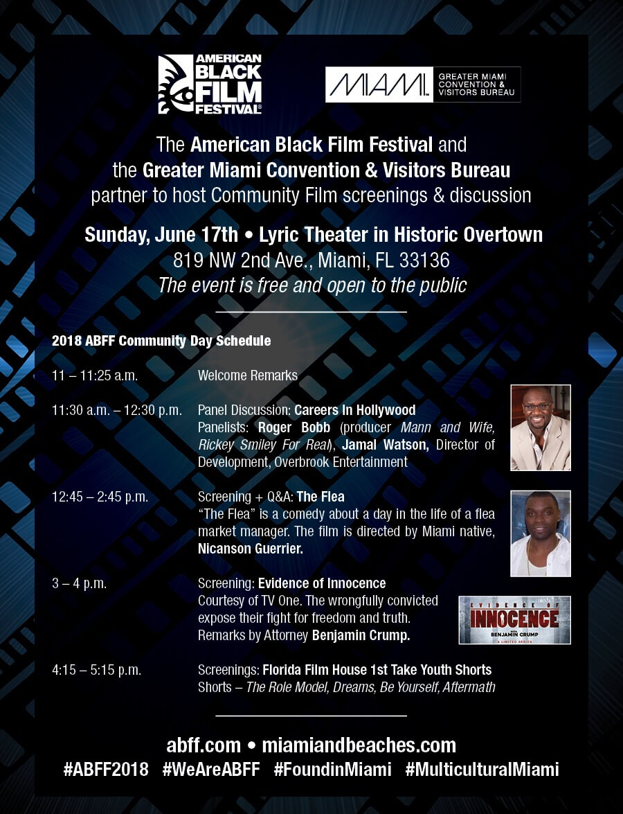 The American Black Film Festival (ABFF) and the Greater Miami Convention & Visitors Bureau Partner to Host Annual Community Day Event On Father's Day