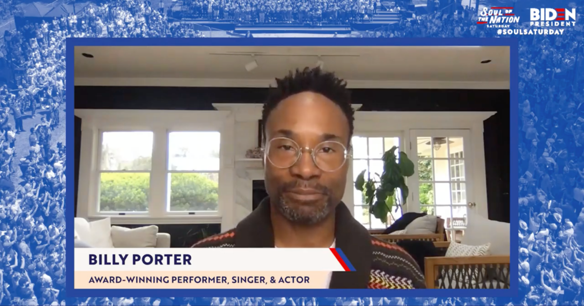 "BILLY PORTER PREMIERES VIDEO FOR ""FOR WHAT IT'S WORTH"" AT JOE BIDEN'S ""SOUL OF A NATION"" VIRTUAL EVENT"